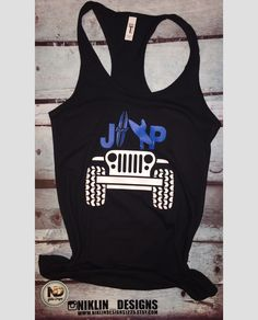 Womans racerback jeep tank top | jeep tank top | jeep surfer tank top | fitness tank top | gym tank top | crossfit tank top by niklindesigns1225 on Etsy https://www.etsy.com/listing/607859778/womans-racerback-jeep-tank-top-jeep-tank