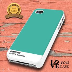 Pantone Turquoise   for iphone, ipod, samsung galaxy, HTC and Nexus PHONE CASE
