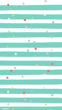 Mint White Pink Stripes Confetti Dots Iphone Wallpaper Background 640x1136px