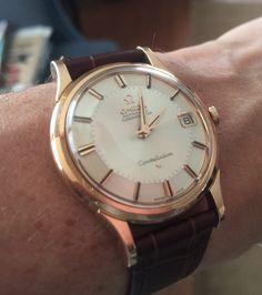 Vintage OMEGA Constellation Piepan Chronometer In Rose gold - http://omegaforums.net