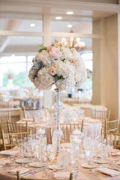 Floral wedding centerpiece -  Michael David Photography