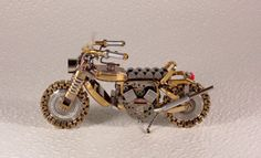motorcycle art... Out of watch parts!
