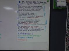 Nice poetry anchor chart, but not sure I totally agree with the rhyme scheme marked on it.  This goes really well with the close reading we are doing with poetry.