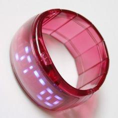 Ceas LED - bratara roz- pentru Femei