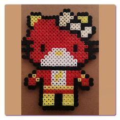 Ironman, Hello Kitty hecha con Hama Beads, para pedir una igual ir a la web.