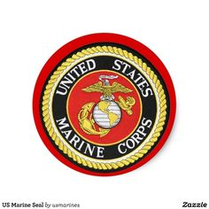 US Marine Seal Round Sticker