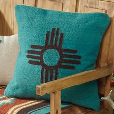 Zia Sun Symbol Pillow