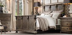 Love the antique look of this bedroom