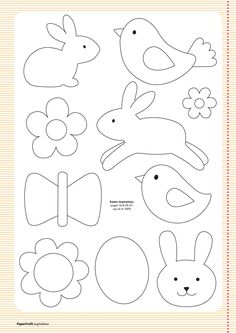 Free templates from your april issue papercraft inspirations easter clipart ideas Easter Crafts, Felt Crafts, Crafts For Kids, Easter Ideas, Applique Templates, Applique Patterns, Easter Templates, Bird Template, Ornament Template