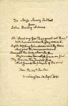 WallBuilders - Historical Documents - The 104th Psalm by John Quincy Adams