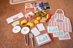 American Girl Doll Play: A Close-Up of the Accessories from Maryellen's Diner Ag Dolls, Girl Dolls, Doll Party, Doll Crafts, Craft Tutorials, American Girl, Close Up, Baby Shower, Kids