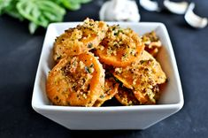 Herb Crusted Sweet Potato Bites