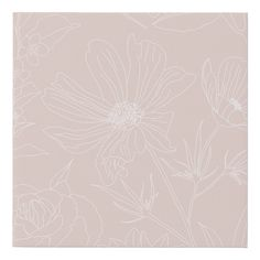 Minimalist Phone, Flower Outline, Pink Design, Simple Backgrounds, Pattern Art, White Flowers, Blush Pink, Paint Colors, Vibrant