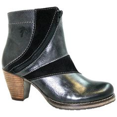 Front zipper ankle boot with silky soft fur lining. Features a TP rubber outsole with anti-skid design, stacked heel cover and real leather welt, and rocker bottom for less strain on your back. 3D Technology footbed for shock absorbtion,