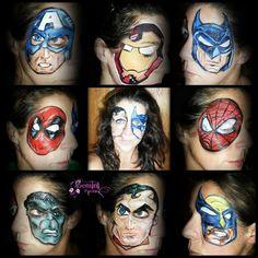 Super hero - one eye face paint designs