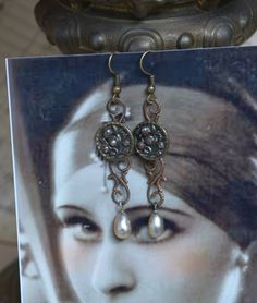 Upcycled Earrings  Vintage Victorian Buttons by TheGildedGypsies, $28.00