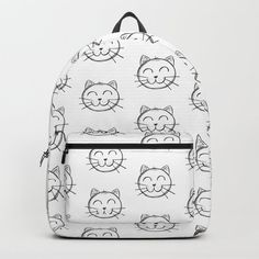 Cat Backpack by chaploart | Society6