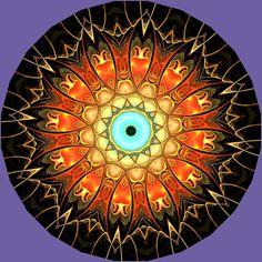Serenity Mandala by Pierre Vermersch Mandala Art, Mandala Pattern, Mandala Design, Magic Circle, Colouring Techniques, Mandala Coloring, Fractal Art, Sacred Geometry, Painted Rocks