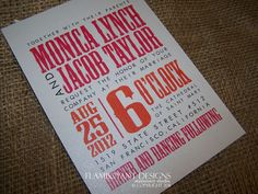 Wedding Invitation, Modern - I like this layout, different font