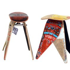 Very cool stools made from trashed skateboards / great way to recycle
