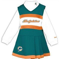 Reebok Miami Dolphins Toddler Girls Cheer Uniform