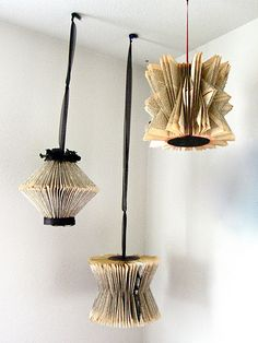 recycled book art - this would be great for a book themed table