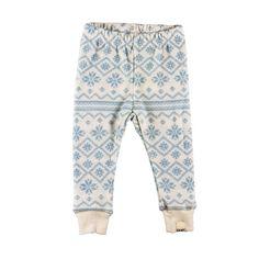 Celavi,ullbukse, hvit med grått mønster - Sam & Sofie Eco Baby, Baby Leggings, Pajama Pants, Pajamas, Mini, Blue, Fashion, Sleep Pants, Pjs