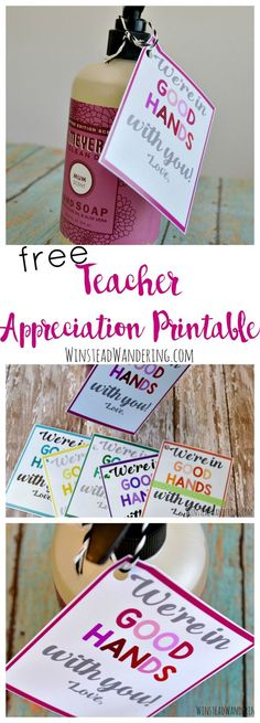 The Ultimate Pinterest Party, Week 144   Snag a free teacher appreciation printable in a bunch of fun colors. Find inexpensive gift ideas from a teacher, too!