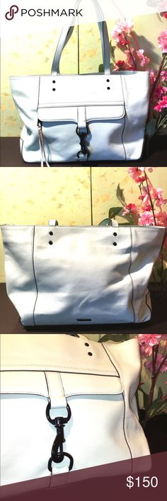 Mint Green Rebecca Minkoff Bowery Tote Excellent condition inside and out. Last pic is my purse and my picture but shows true color. This stinking purse doesn't like the spotlight haha. Gorgeous bag!! Rebecca Minkoff Bags Totes