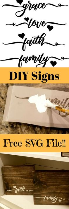 DIY wooden signs wit