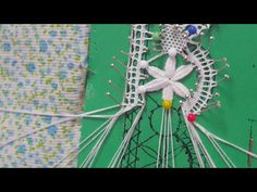 Puntilla Florecitas ,unión de las hojitas - YouTube Plastic Canvas Stitches, Bobbin Lacemaking, Bobbin Lace Patterns, Crochet Lace Edging, Drawn Thread, Lace Heart, Point Lace, Lace Jewelry, Needle Lace