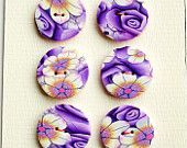 Millifiori polymer clay buttons/etsy