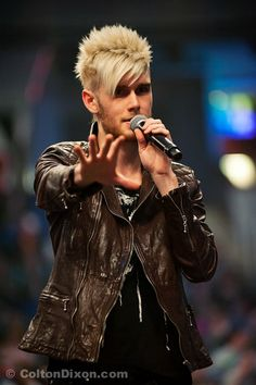 The amazing Colton Dixon. BUT THAT JACKET THO. I'm pinning this to my Style board!