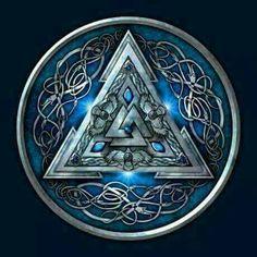 Valknut Viking Shield Art.