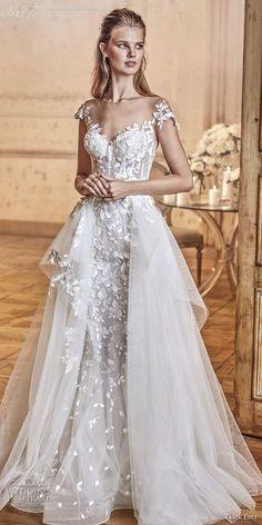 tarik ediz 2017 bridal sleeveless with strap sweetheart neckline heavily embellished bodice tulle skirt romantic a line wedding dress sweep train (3) mv -- Tarik Ediz White 2017 Wedding Dresses