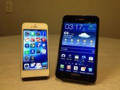 iPhone 5 vs. Samsung Galaxy Note #Attmobilereview @TMobile #4GLife