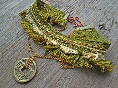 Upcycled recycled repurposed Bohemian choker by EarthChildArt, $35.00