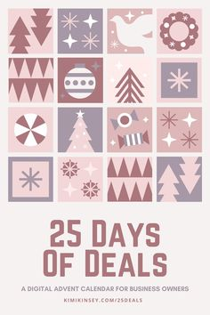 Want some freebies or discounted products for your business? It's still possible after Black Friday and Cyber Monday with Kimi's 25 Days of Deals. #afflink #freebies #deals #resources #tools #bloggingtips #startablog #businesstips Frugal Christmas, 25 Days Of Christmas, Christmas Deals, Holiday Sales, Home Based Business, Online Business, How To Stop Procrastinating, Love Is Free, Business Planning