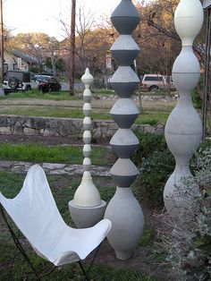 These cast concrete sculptures can be incorporated into walls, fences, pergolas, etc - or used as a stand-alone sculpture. From PCO Design.