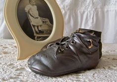 Antique Bronze Baby Shoes Baby Keepsake Baby by cynthiasattic, $25.00