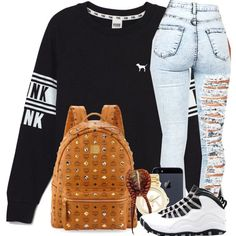 4/6/15 by trillxassxbitch on Polyvore featuring polyvore, fashion, style, Victoria's Secret, MCM and Michael Kors