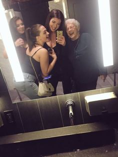 """""""This lady in the washroom looking at me said, 'I remember when my girlfriends & I would get dressed up & go out I miss that.' So I said why miss it, we're all out right now aren't we? Story short we have a new friend."""" via Twitter user @SmithMahri"""