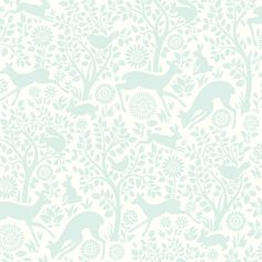 "Brewster Home Fashions Hide and Seek Anahi Forest Fauna 33' x 20.5"" Wildlife Embossed Wallpaper"