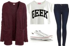 Untitled #62 by chelsea7547 featuring a cropped t shirt road trip outfit maybe?:3