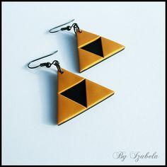 Triforce earrings / The legend of Zelda earrings / by ByIzabela