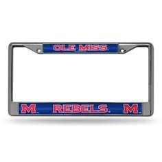 Mississippi Rebels NCAA Bling Glitter Chrome License Plate Frame
