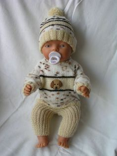 For Baby Born Knitting Dolls Clothes, Crochet Doll Clothes, Knitted Dolls, Baby Clothes Patterns, Baby Knitting Patterns, Baby Patterns, Boy Baby Doll, Girl Dolls, Baby Dolls