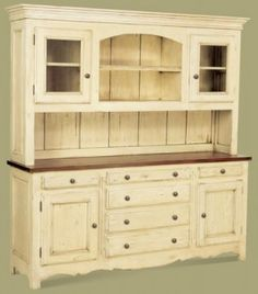 Kitchen hutch~ I my just have to have Sam build one of these.  :D
