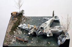 Norway 1943 Crash Site 1/32 Scale Model Diorama