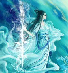 古风 中国风 古装 插画手绘 长亭柳笛青山外,如秋水歌吟。花谢花飞落…